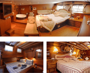 Gulet normally have from 4 and up to 8 cabins