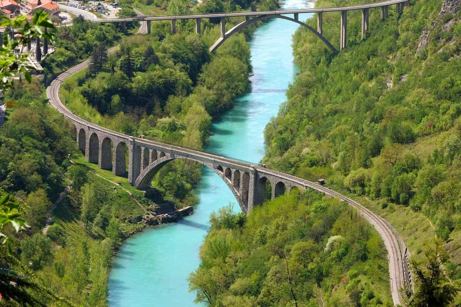 This image has an empty alt attribute; its file name is Solkan-Railway-Bridge-Soča-River-Nova-Goriza-Slovenia-Adventures-Croatia.jpg