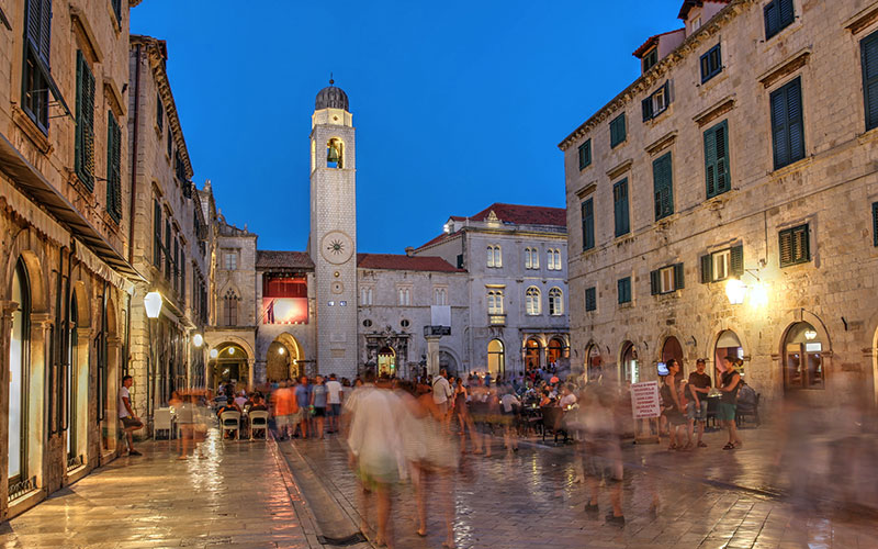 evening in dubrovnik