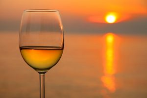 wine glass sunset