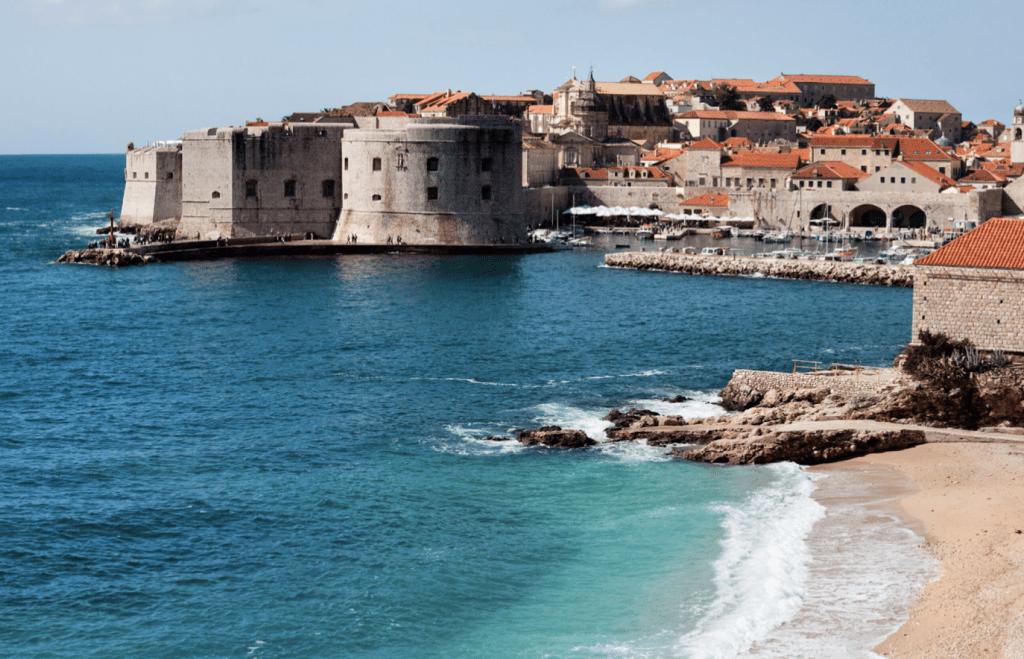 View of Dubrovnik bay